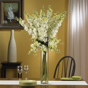 White Delphinium Silk Flower Arrangement