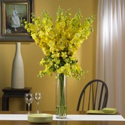 Yellow Delphinium Silk Flower Arrangement
