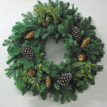 "24"" Fresh Rustic Holiday Wreath"