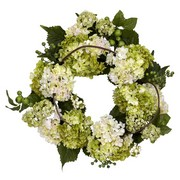 Green and Cream Hydrangea Wreath