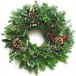 "20""Oregon Coastal Holiday Wreath"