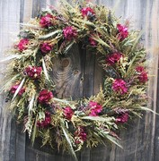 Crimson Breeze Wreath