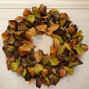 Earthy Magnolia Leaf Wreath