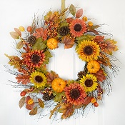 "34""Fall Sunflower Harvest Wreath"