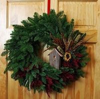 For The Birds Fresh Christmas Wreath