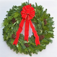 Grande Fresh Noble Fir Christmas Wreath