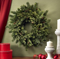 Grande Holiday Pine Wreath