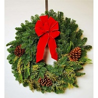Holiday Traditions Fresh Evergreen Wreath