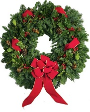Evergreen Holly Berry Christmas Wreath