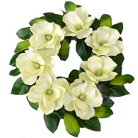Southern Charm Magnolia Wreath