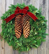 Rustic Tahoe Pine Holiday Wreath (Fresh)