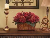 Burgundy Hydrangea Silk Floral Arrangement