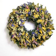 Sweet Myrtle Wildflower Wreath