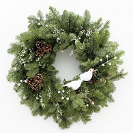 Snowbirds Fresh Christmas Wreath