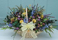 Wildflowers and Roses Dried Flower Basket