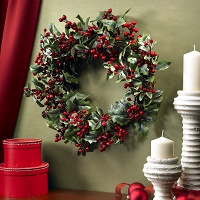 Winter Holly Berry Wreath
