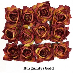 burgundy-gold-roses