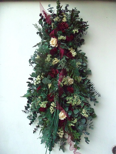Decorative flower swags vertical dried floral swag vertical floral swag mightylinksfo