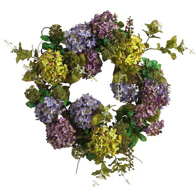 Summer Hydrangea Wreath