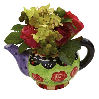 Rose & Hydrangea w/Decorative Vase