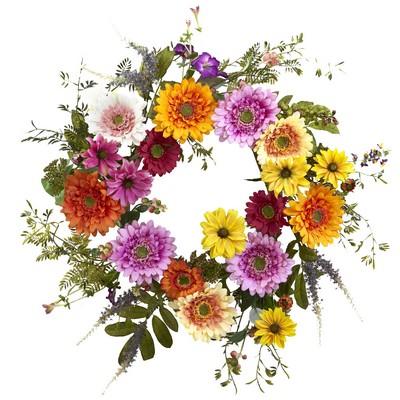 "26"" African Sunflower Wreath (Silk)"