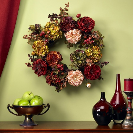 English Garden Peony Wreath