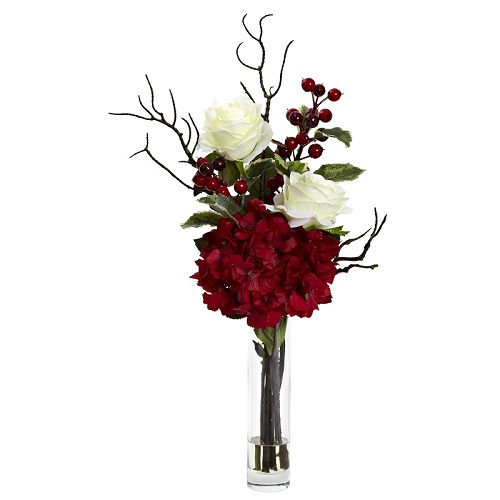 Christmas Rose Hydrangea Arrangement