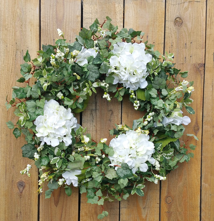 Hydrangea Cottage Garden Silk Wreath