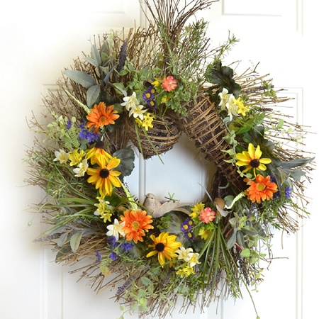 Rustic Herb & Wildflower Garden Wreath