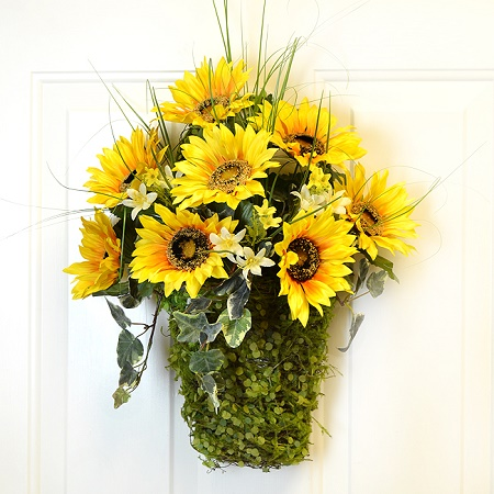 Summer Sunflower Wall Basket