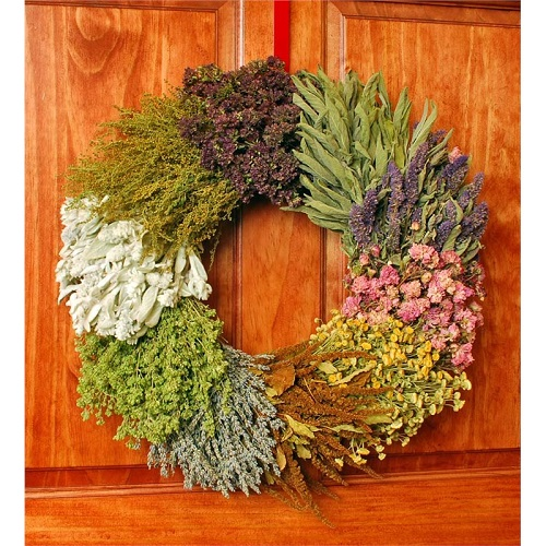 Herbal Patchwork Wreath