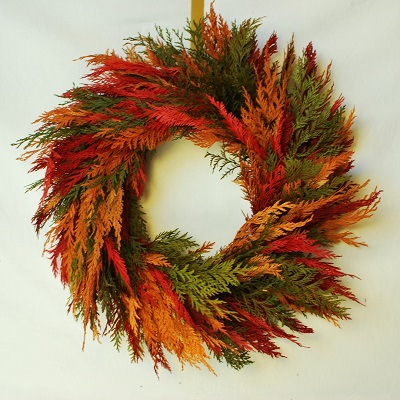 Colors of Fall Cedar Wreath