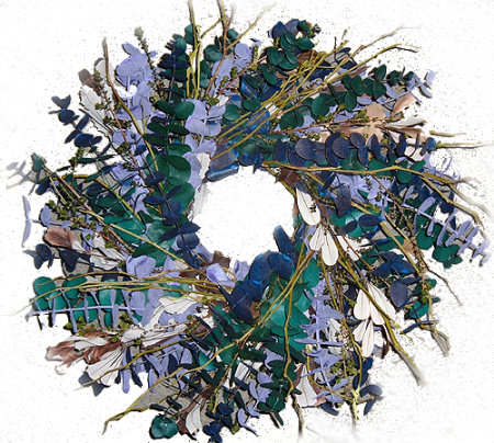 The Blues Eucalyptus Wreath