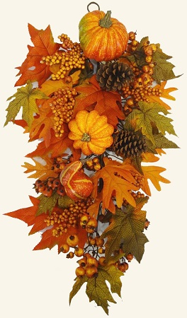 "32""Fall Harvest Pumpkin & Gourd Swag"
