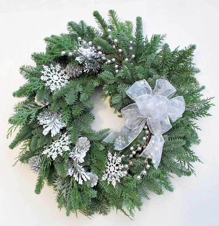 First Snow Fresh Holiday Wreath