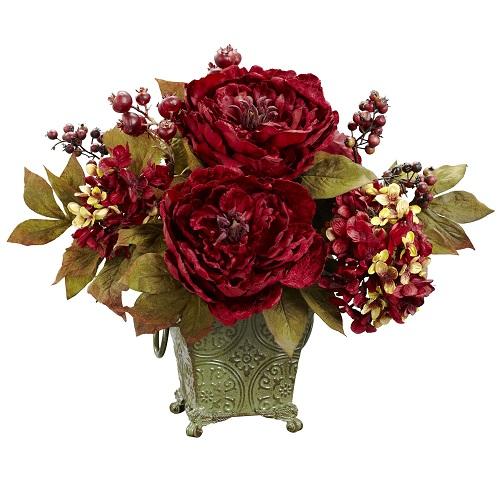 Peony Hydrangea & Berries Arrangement(Small)