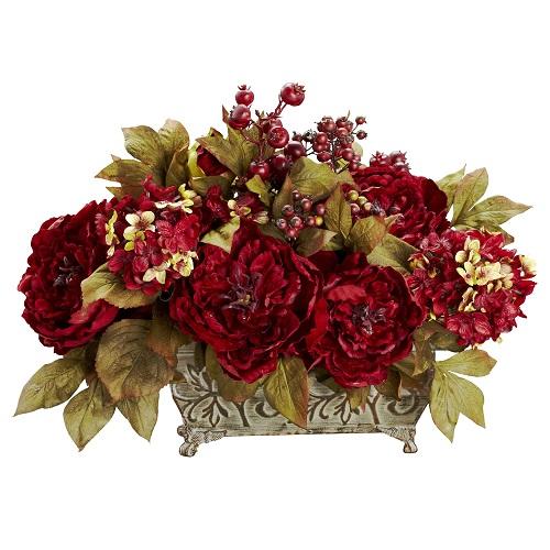 Peony Hydrangea & Berries Arrangement