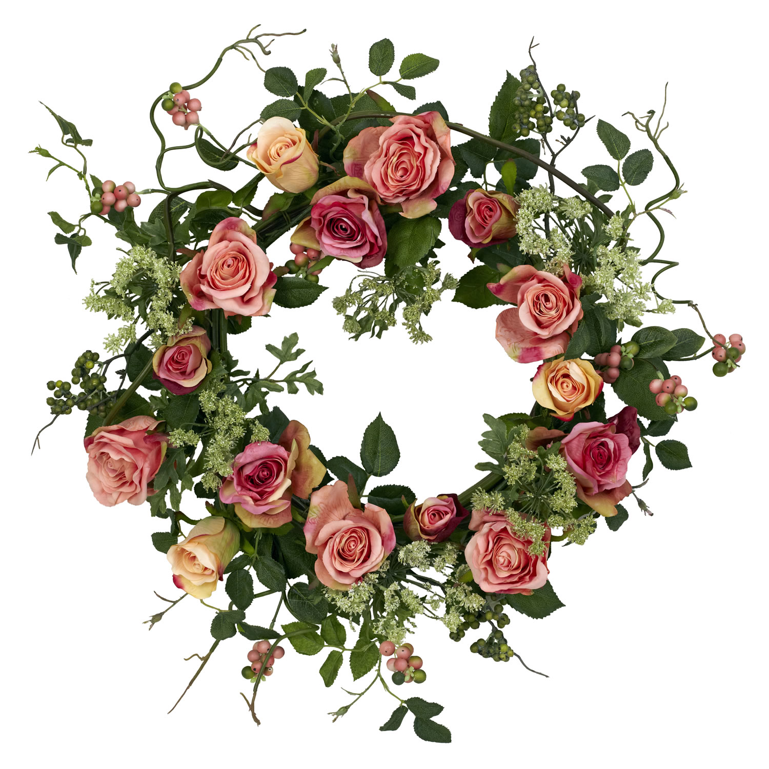 Rose Berry Wreath (Silk)