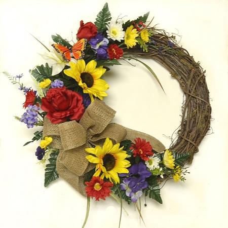 Summer Sunflower Garden Wreath
