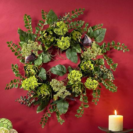 Tuscan Floral Artichoke Wreath