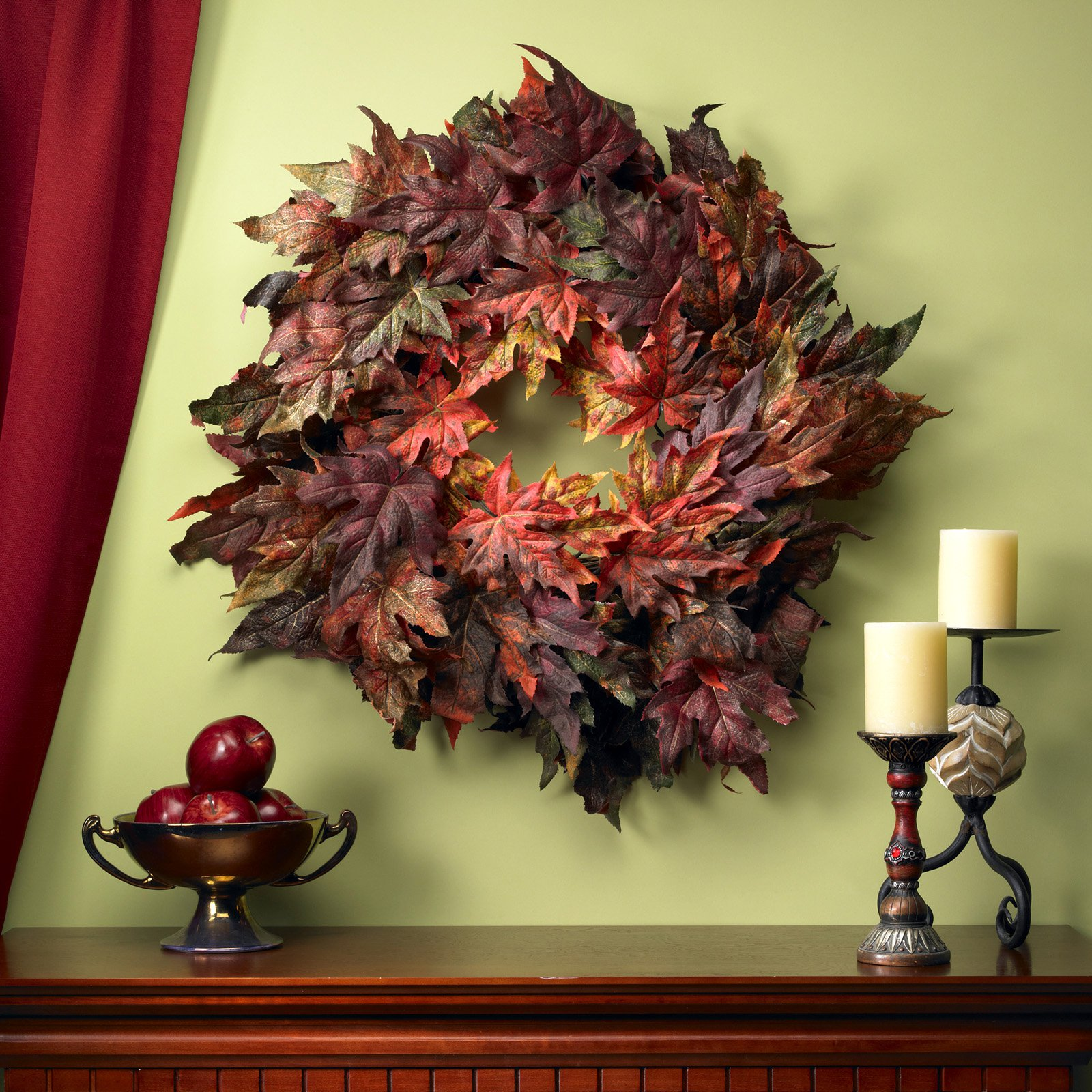 Vermont Maple Leaf Wreath