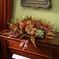 Autumn Harvest Triple Candleabrum