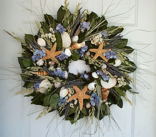 "20"" Beach Cottage Wreath"
