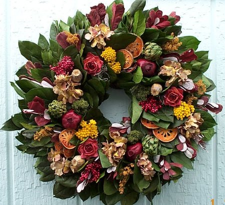 "22""Bountiful Harvest Wreath"