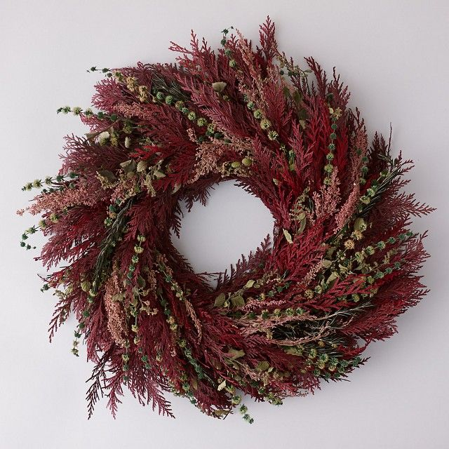 Fragrant Burgundy Forest Wreath