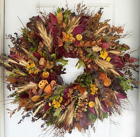 "26"" Colours of Fall Wreath"