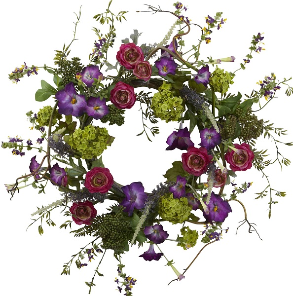 Courtyard Garden Wreath (Silk)