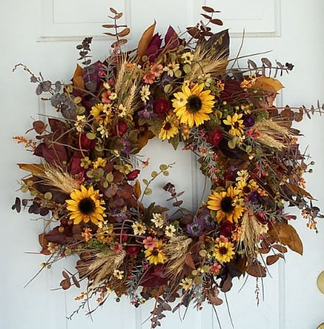 "22""Fall Garden Wreath"