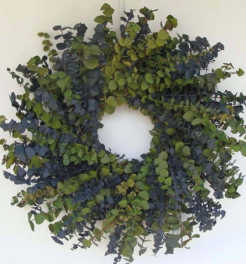 Moss and Blue Eucalyptus Wreath