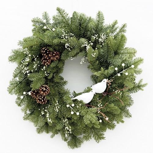 Snowbirds Fresh Christmas Wreath